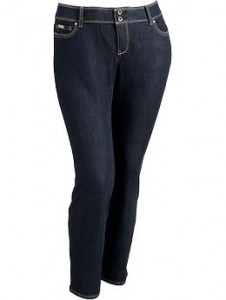 Women's Plus Premium Skinny Jeans - Dark Wash
