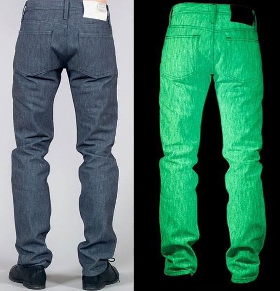 glow-in-the-dark jeans